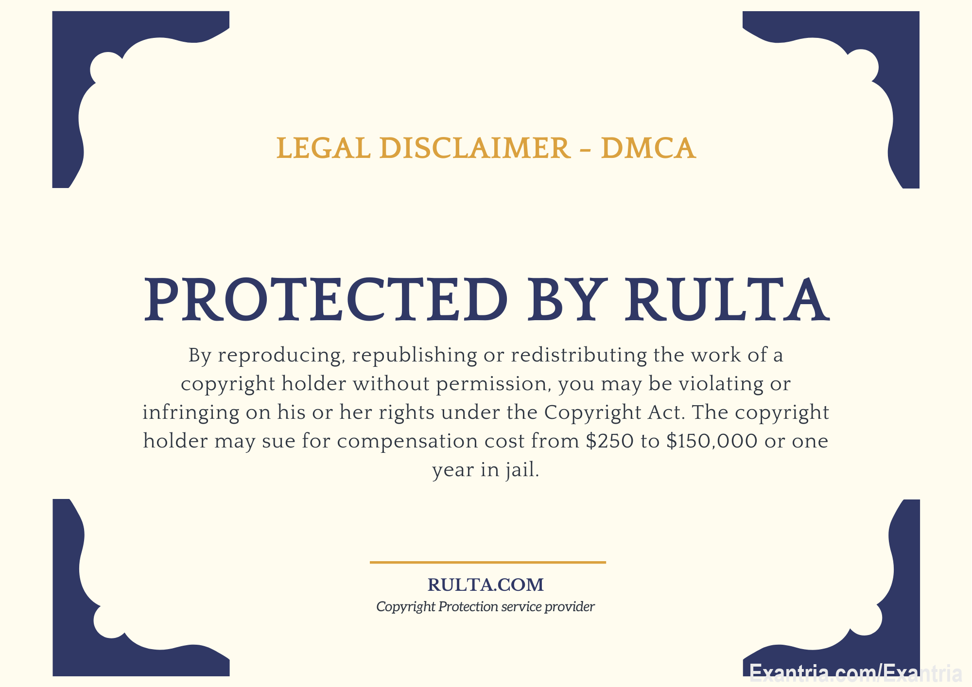 Happy to announce we have started to use DMCA copy-right protection service (legal takedown service) from Rulta. They will go after all Thieves stealing creator's content and publishing it illegally online. VIP Creators, please contact our staff for details and to apply for the Protection program. We are piloting it now with few of our VIP Creators.